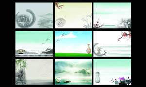 中国风广告背景设计PSD分层素材