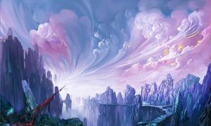 封神榜游戏风景图设计图片素材