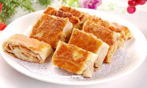 香酥肉饼美食摄影图片