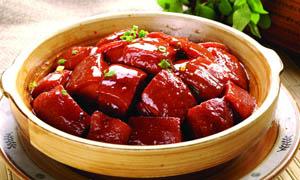毛氏红烧肉美食摄影图片