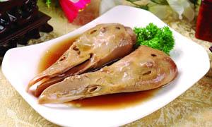 卤水鸭头美食摄影图片