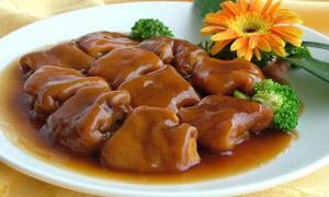 鲍汁猪手美食摄影图片