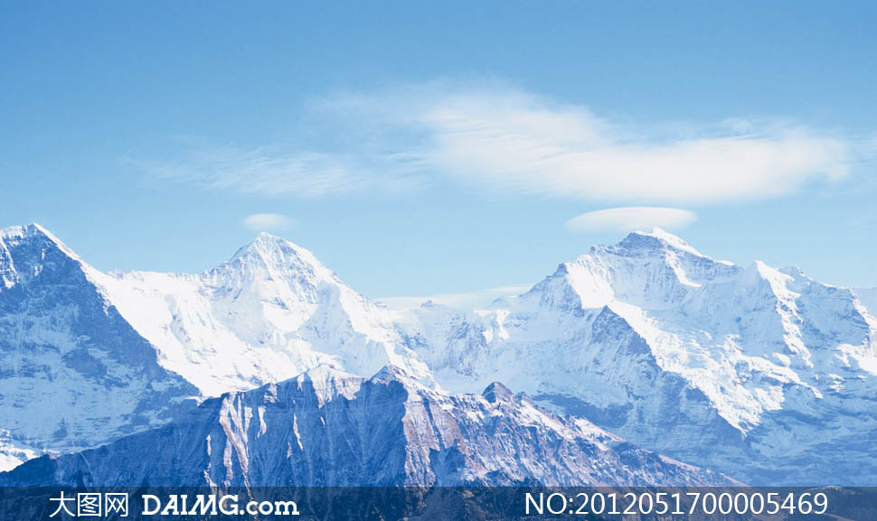 风光摄影高清图片 大图网设计  连绵的雪山摄影图片 - 大图网设计素材