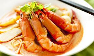 红烧龙虾美食摄影图片