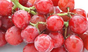 红色葡萄串微距摄影高清摄影图片