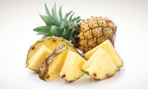 切成块状的菠萝摄影高清图片