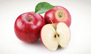 红通通的苹果特写摄影高清图片