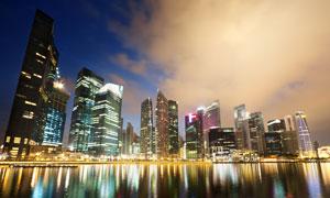 繁华大都市夜景摄影高清图片