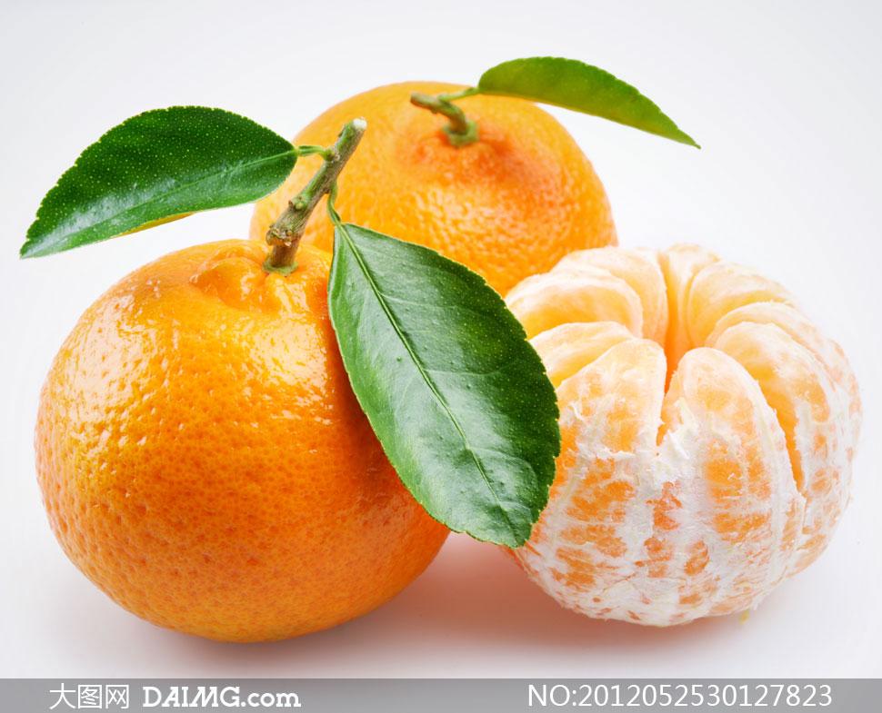 关键词: 高清图片摄影素材大图水果近景特写静物果子柑橘桔子橘子绿色