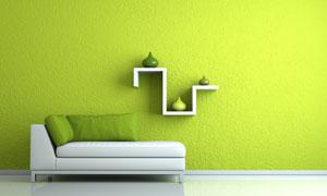 绿色清新时尚简约风格家居高清图片