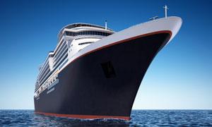 航行在大海上的轮船摄影高清图片
