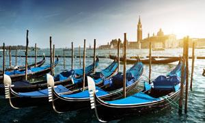 意大利威尼斯贡多拉摄影高清图片
