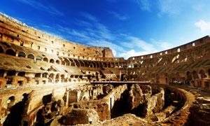 罗马斗兽场内部场景摄影高清图片