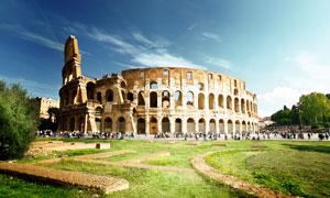 罗马斗兽场古建筑物摄影高清图片