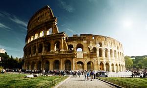 罗马圆形竞技场外部摄影高清图片