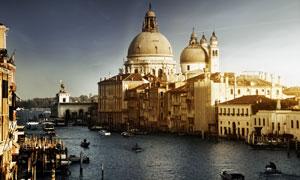 威尼斯巴洛克建筑杰作摄影高清图片