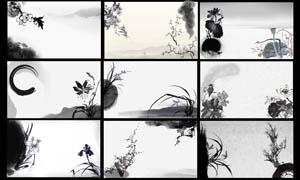 中国风古典墨迹名片设计PSD分层素材