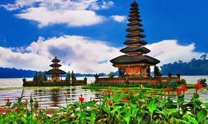 巴厘岛普拉布拉坦寺摄影高清图片