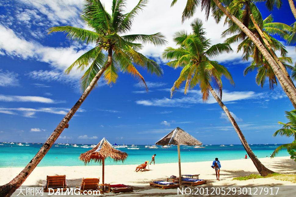 菲律宾长滩岛夏日风情摄影高清图片