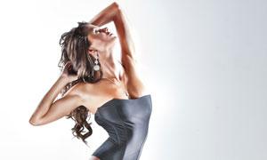 摆造型的外国美女模特摄影高清图片