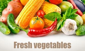 辣椒黄瓜等新鲜蔬菜摄影高清图片