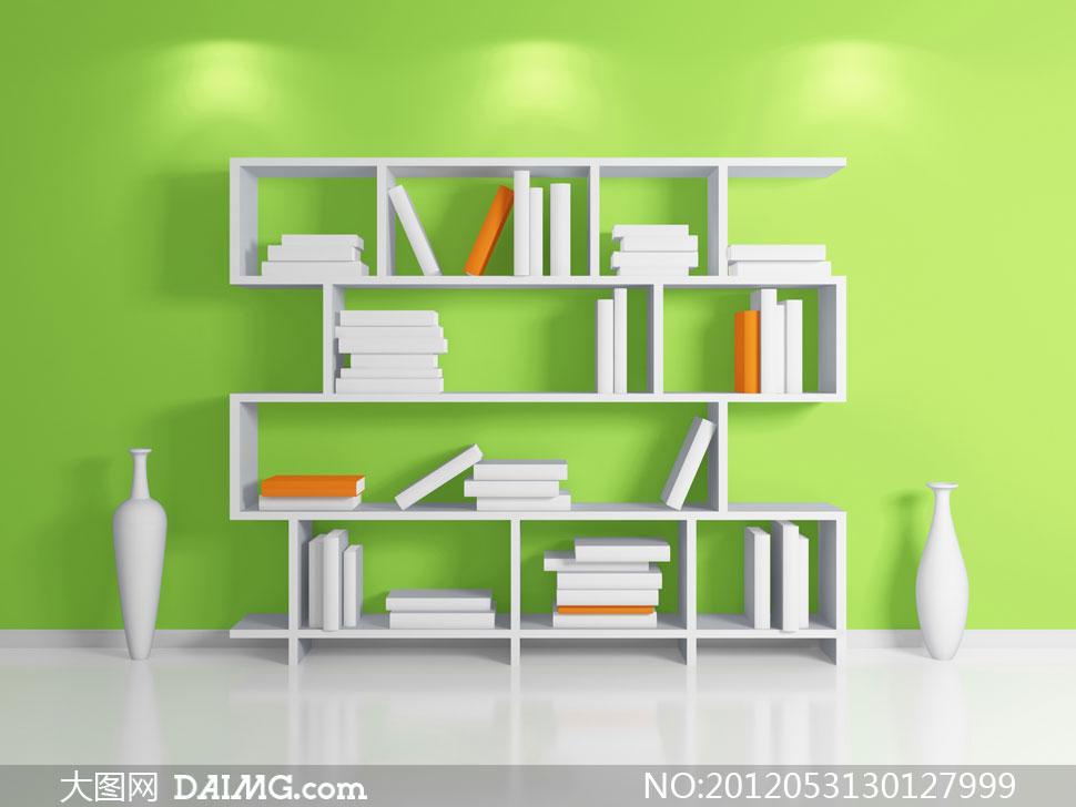 复古欧式墨绿色墙壁装饰4个相框
