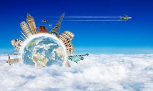 环球旅游设计图片素材