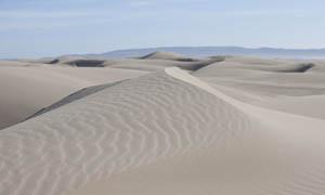 连绵的沙漠沙丘高清摄影图片