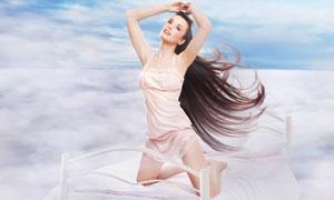 蕾丝花边吊带裙美女摄影高清图片