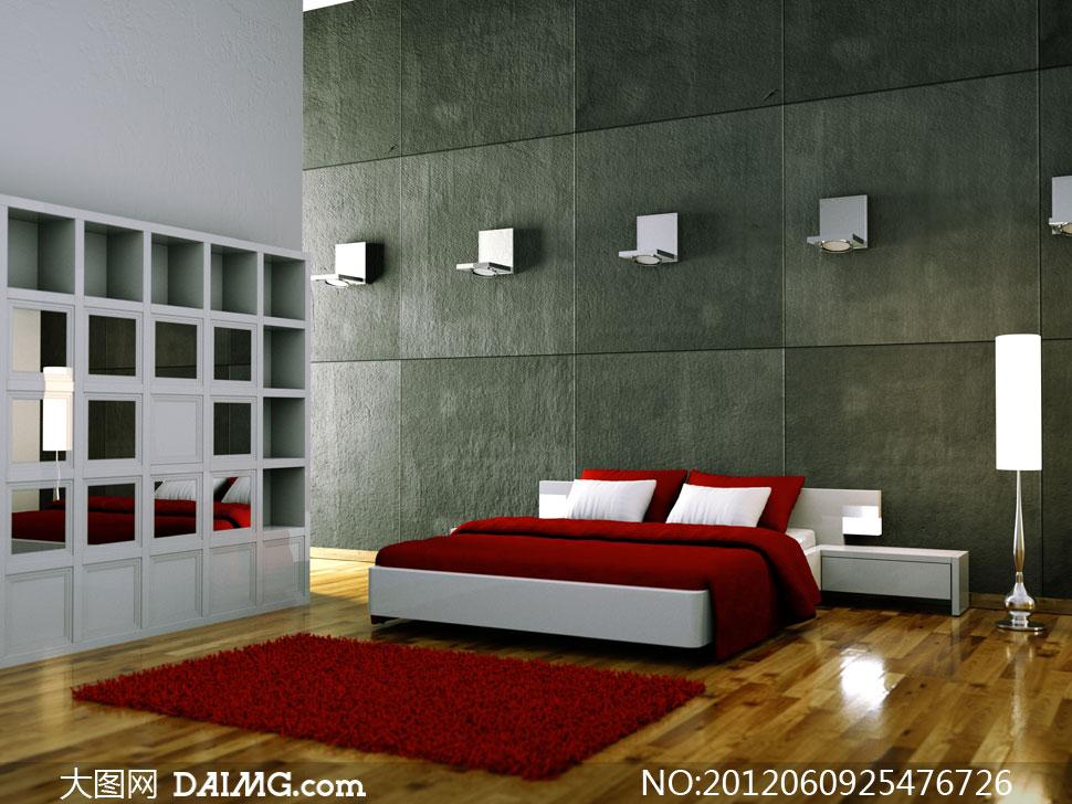 卧室家具摆放与装修效果高清图片