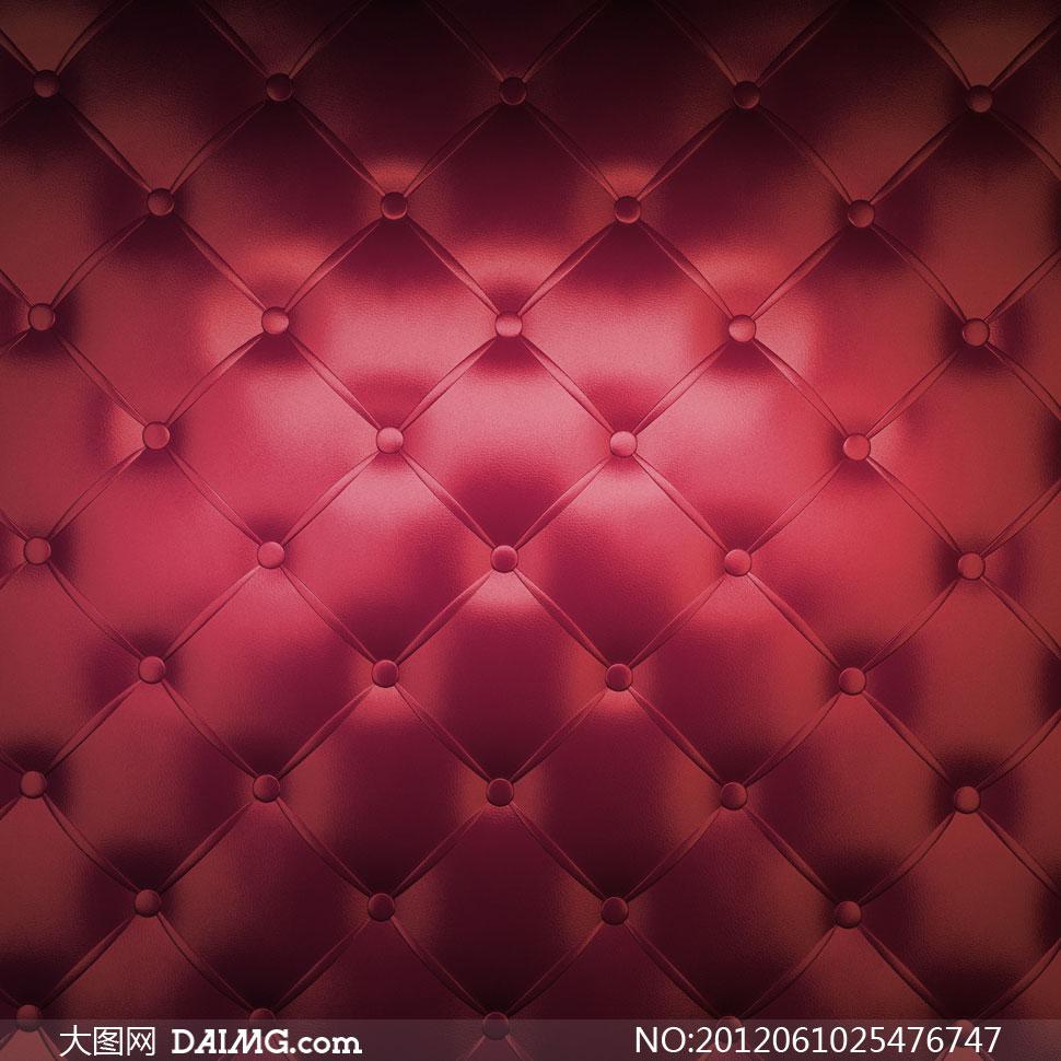 暗红色真皮沙发材质纹理高清图片 大图网素材daimg Com