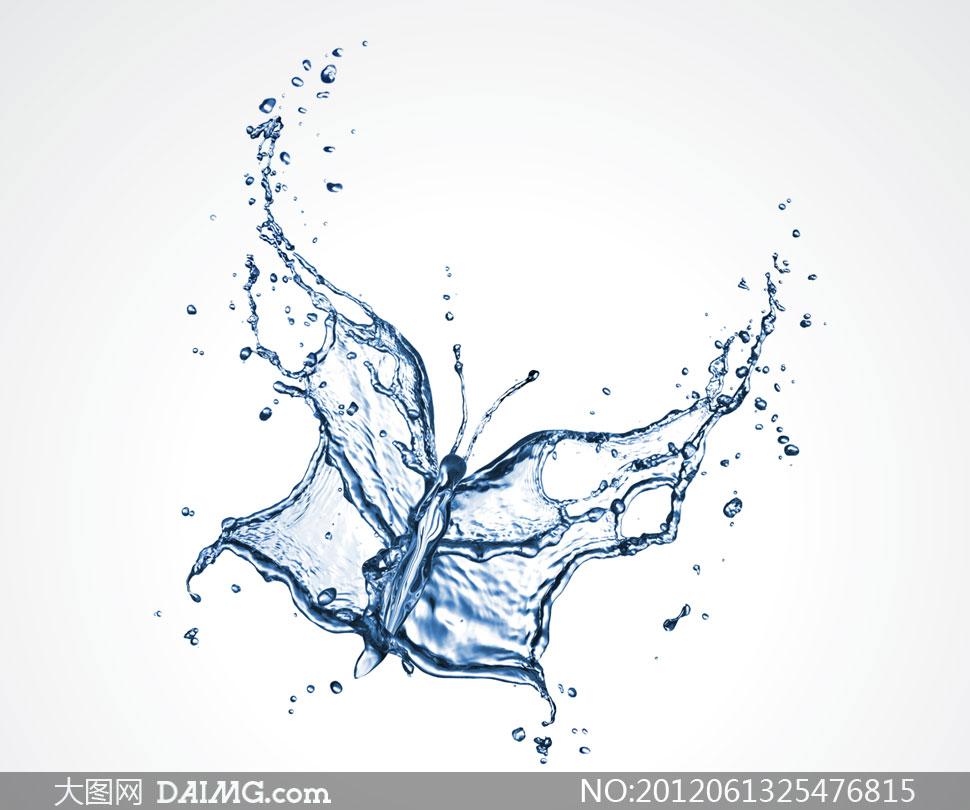 创意图案图形水花水滴图片