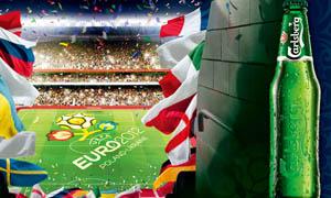 2012欧洲杯指定啤酒海报PSD源文件