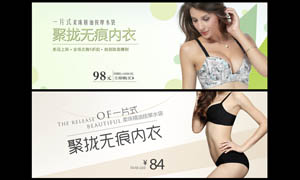 淘宝内衣店网页广告设计PSD分层素材