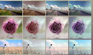 欧美照片鲜亮效果调色动作