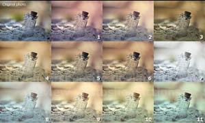 漂流瓶照片唯美单色效果调色动作