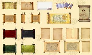古典圣旨卷轴画卷设计PSD分层素材