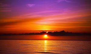 黄昏唯美大海自然风光摄影高清图片