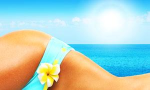 夏天性感美女身体特写摄影高清图片