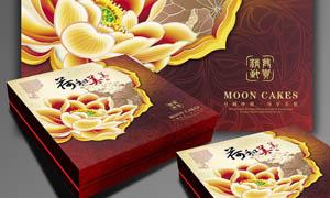 中秋礼盒月饼包装设计矢量素材