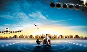 城市崛起地产广告设计PSD源文件