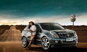 凯迪拉克SRX汽车广告设计图片