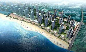 海边地产景观效果图设计图片
