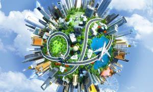 创意城市建筑设计图片素材