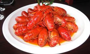 大盘装龙虾美食摄影图片
