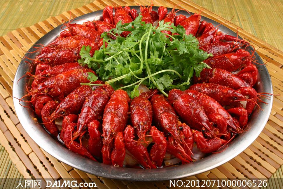 盱眙香辣小龙虾美食摄影图片