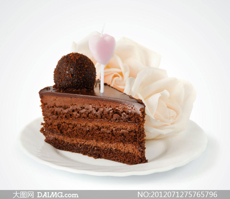 巧克力蛋糕切块近景摄影高清图片 - 大图网设计素材