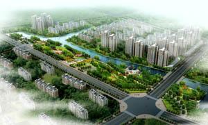 住宅小区绿化效果图PSD分层素材