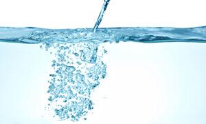 流动液体与水下水花高清图片