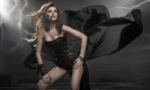 穿抹胸礼服的美女人物摄影高清图片
